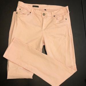 Kut from the Kloth Jeans - Kut from Kloth blush pink straight leg jeans